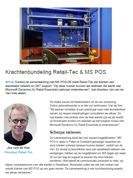Krachtenbundeling Retail-Tec en MS POS